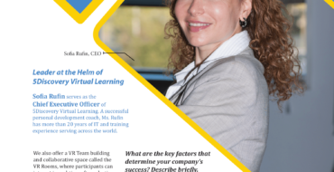 Rufin Sofia, CEO of 5Discovery Virtual Learning Speaks to The Silicon Review